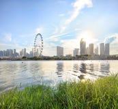 Vista di Singapore centrale Immagine Stock Libera da Diritti