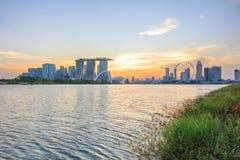 Vista di Singapore centrale Fotografia Stock Libera da Diritti