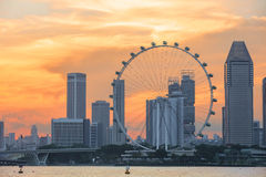 Vista di Singapore centrale Fotografie Stock