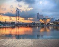 Vista di Singapore centrale Immagine Stock