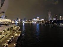 Vista di Singapore della sabbia della baia di Merina Immagini Stock