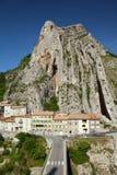 Vista di Sisteron in Provenza Immagine Stock Libera da Diritti