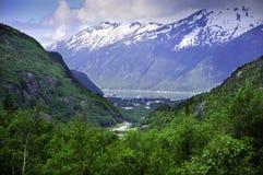 Vista di Skagway Alaska Immagini Stock