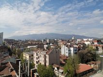 Vista di Sofia, Bulgaria immagine stock libera da diritti