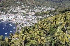 Vista di Soufriere Fotografie Stock