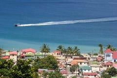 Vista di Soufriere, St Lucia Immagini Stock Libere da Diritti