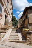 Vista di Spello L'Umbria Fotografia Stock