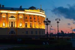 Vista di St Petersburg nel tramonto Fotografia Stock Libera da Diritti