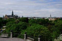 Vista di Stoccolma dallo Skansen Fotografie Stock Libere da Diritti