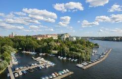 Vista di Stoccolma Svezia fotografia stock libera da diritti