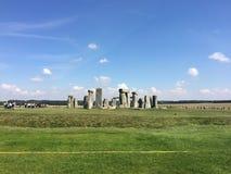 Vista di Stonehenge fotografia stock libera da diritti
