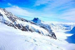 Vista di stordimento Jungfrau delle alpi svizzere Fotografia Stock