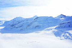 Vista di stordimento Jungfrau delle alpi svizzere Immagine Stock