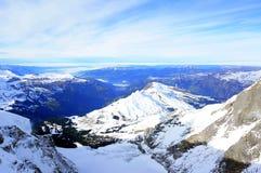 Vista di stordimento Jungfrau delle alpi svizzere Immagini Stock
