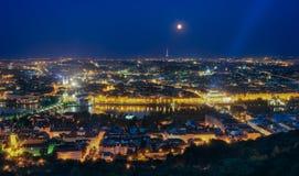 Vista di stupore di notte di Città Vecchia, Praga, repubblica Ceca Immagini Stock Libere da Diritti