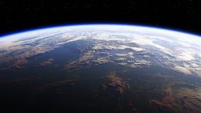 Vista di stupore di pianeta Terra da spazio archivi video
