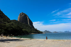Vista di Sugar Loaf e della baia di Guanabara Fotografia Stock Libera da Diritti