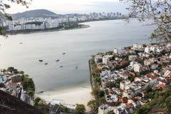 Vista di Sugar Loaf e della baia di Guanabara Fotografia Stock