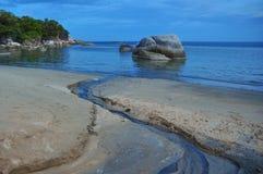 Vista di vista sul mare dell'isola di Samui, Tailandia Fotografie Stock
