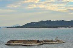 Vista di vista sul mare dell'isola di Samui, Tailandia Immagine Stock