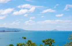 Vista di vista sul mare Punto di punto di vista di Hua Hin thailand fotografia stock libera da diritti