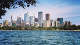 Vista di Sydney& x27; grattacieli di s Fotografie Stock