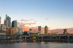 Vista di Sydney sul tramonto immagine stock
