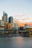 Vista di Sydney sul tramonto fotografie stock