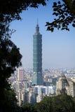 Vista di Taipei 101 dall'elefante Mt Fotografie Stock