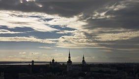 Vista di Tallinn dall'hotel di Radisson SRS Immagini Stock Libere da Diritti