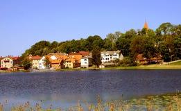 Vista di Talsi, Lettonia in primavera fotografia stock libera da diritti