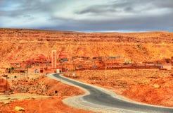 Vista di Tamedakhte, un villaggio nell'alta montagna di atlante, Marocco Fotografie Stock