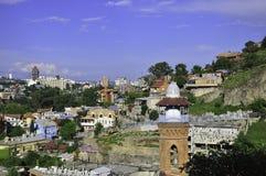 Vista di Tbilisi immagini stock