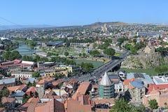 Vista di Tbilisi, Georgia Fotografia Stock