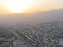 Vista di Teheran fotografia stock