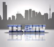 Vista di Tel Aviv illustrazione vettoriale