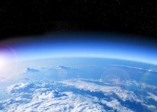 Vista di terra da spazio Fotografia Stock
