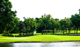 Vista di terreno da golf Immagine Stock