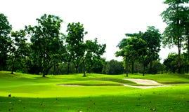 Vista di terreno da golf Fotografia Stock Libera da Diritti