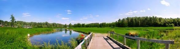Vista di terreno da golf Fotografie Stock