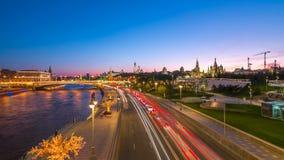 Vista di Timelapse del punto di riferimento di Mosca video d archivio