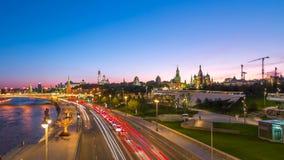 Vista di Timelapse del punto di riferimento di Mosca stock footage