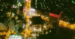 Vista di Timelapse della città di Taipei 4K video d archivio