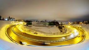 Vista di Timelapse sul traffico cittadino di notte video d archivio