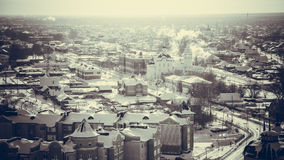 Vista di Tobol'sk della città da sopra Immagini Stock