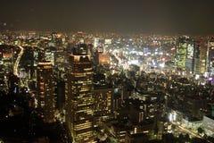 Vista di Tokyo del centro alla notte Fotografia Stock