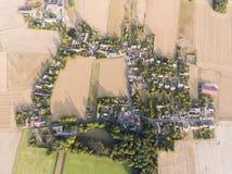 Vista di Torfou, l'Essonne, Ile de France fotografia stock