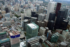 Vista di Toronto del centro dalla torre del CN Fotografie Stock Libere da Diritti