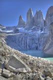 Vista di Torres del paine Fotografia Stock