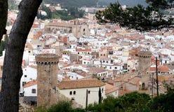 Vista di Tossa de marzo, Spagna Immagine Stock